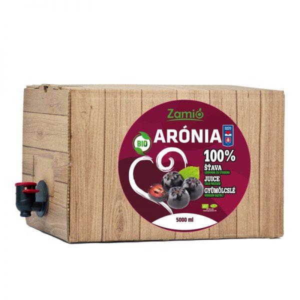 100% ovocná šťava BIO Arónia 5L
