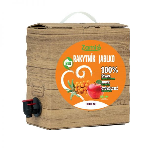 100% šťava BIO Rakytník - BIO Jablko 3L