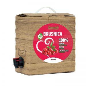 100% šťava Brusnica3L